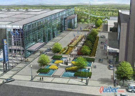 Un espace public remodel pour le 400e qu bec urbain for Espace vert quebec