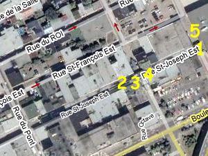 Rue Saint-Joseph et environs. Source: Google Map.