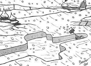 Caricature de Marc Beaudet, Journal de Québec, 6 mars 2008.