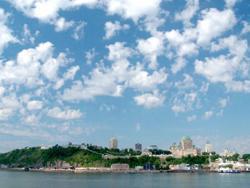 Grand format 800X600, vue sur Québec à partir de Lévis, 20 juillet 2006. Photo: Jean Cazes.