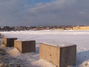 Terrains vagues sur D'Estimauville. Photo: Jean Cazes, 19 janvier 2007.
