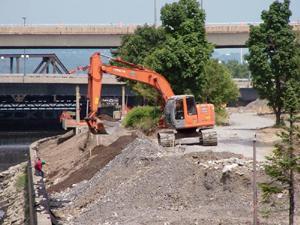 Grand format 800X600. Phase V de la rivière Saint-Charles. Photo: Jean Cazes, 5 juillet 2007.
