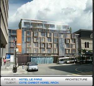 Projet d'h�tel � la place D'Youville. Source: www.skyscraperpage.com.