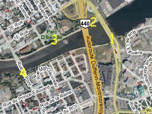 Phase V, rivière Saint-Charles et environs. Source: Google Map.