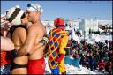 Le bain de neige du Carnaval d'hiver de Quebec
