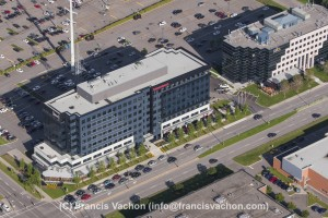 Office buildings on Boulevard Lebourgneuf aerial photo