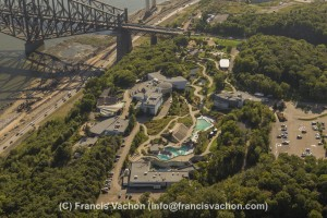 Aquarium du Quebec aerial photo