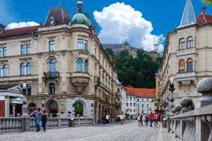 Le centre-ville de Ljubljana